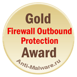 Gold Award by Anti-Malware.ru