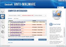 Emsisoft Anti-Malware scannt nach gefährlichen Dateien
