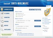 Emsisoft Anti-Malware Sicherheitsstatus