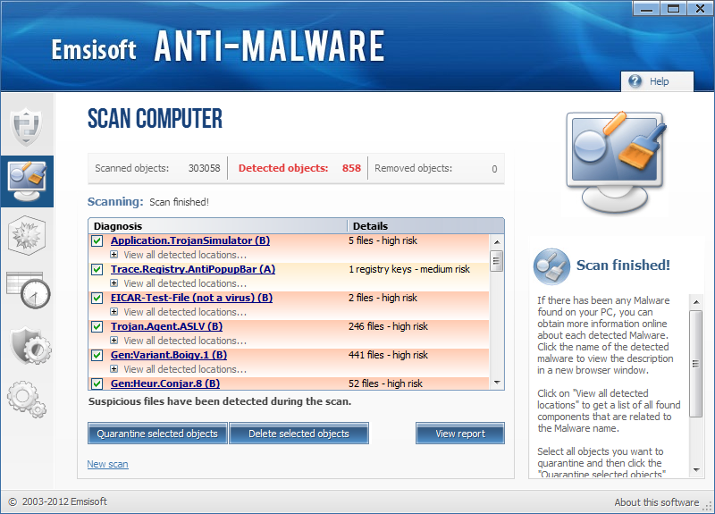 Emsisoft Anti-Malware for Server Screenshot