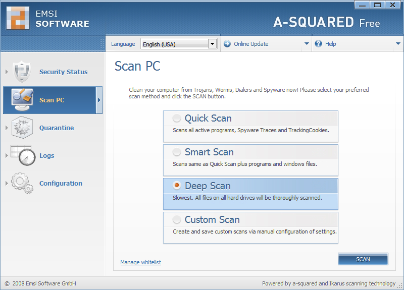 Click to view a-squared Free 4.5.0.27c screenshot