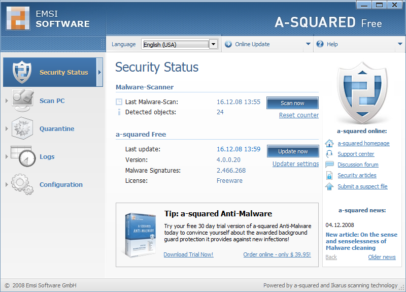 Portable Virus Alman / Almanahe Remover & Cleaner