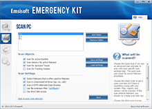 Emsisoft Free Emergency Kit - Custom Scan